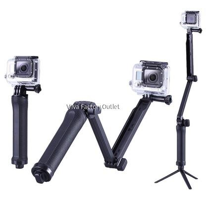 3 Way Grip Waterproof Monopod Selfie Stick Tripod Stand for Go Pro Hero 8 7 6 5 4 Session for Xiaomi Yi 4K Sjcam Sj4000 Eken H9r for GoPro Accessory