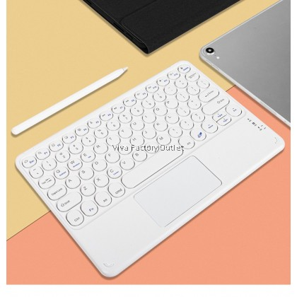 Mini Retro Wireless Bluetooth Quiet Slim Keyboard With Touchpad For IOS Android Windows Iphone Ipad Samsung Tab Huawei Oppo