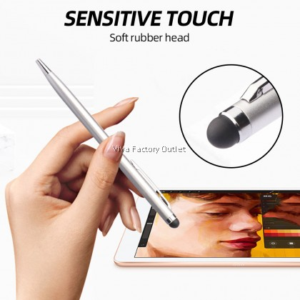 2in1 Stylus With Ball Pen For Ipad Iphone Android Smartphone Tablet Touch Screen Universal Device