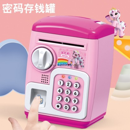 Kids Saving Box With Finger Sensor And Music ATM Tabung Duit Piggy Bank Money Box Save Box